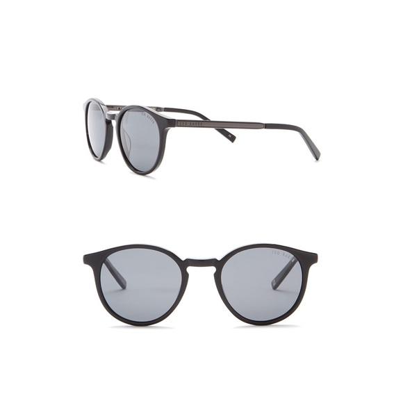 889a7b4b6021 Ted Baker London Round Black Polarized Sunglasses.  M 5b08240e05f430c6ca26e1fb